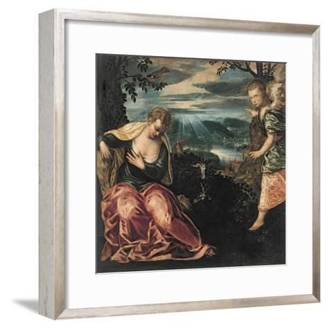 The Annunciation to Manoah's Wife-Jacopo Tintoretto-Framed Art Print