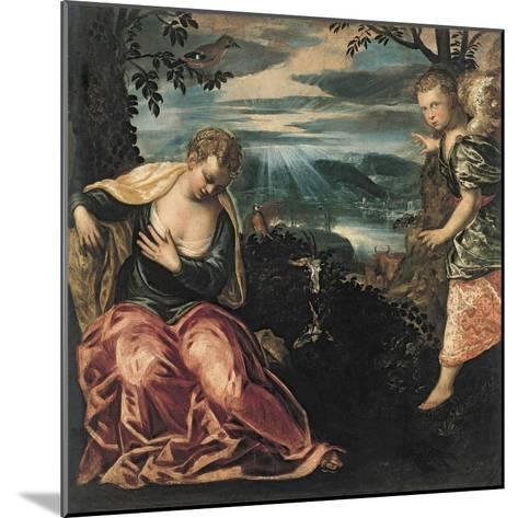 The Annunciation to Manoah's Wife-Jacopo Tintoretto-Mounted Giclee Print