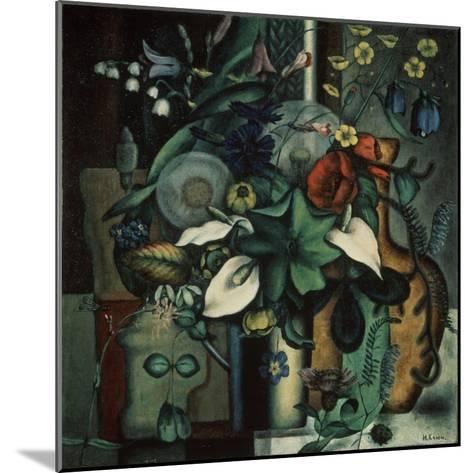 Still Life with Flowers and Jug, 1929-Ivan Vassilyevich Klyun-Mounted Giclee Print