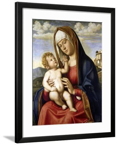 Virgin and Child-Giovanni Battista Cima Da Conegliano-Framed Art Print