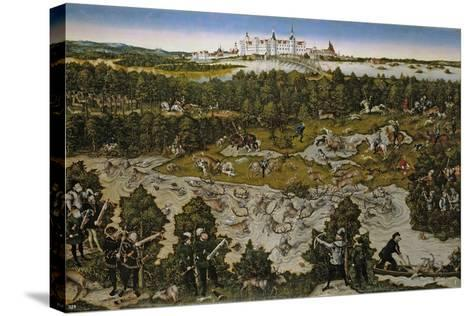 Hunt in Honour of Emperor Ferdinand I at Torgau Castle-Lucas Cranach the Elder-Stretched Canvas Print
