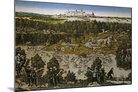Hunt in Honour of Emperor Ferdinand I at Torgau Castle-Lucas Cranach the Elder-Mounted Giclee Print