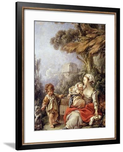 The Little Dog's Dance-Fran?ois Boucher-Framed Art Print