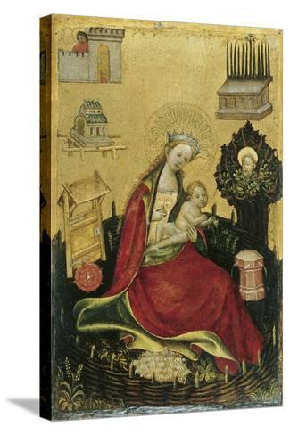 The Virgin and Child in the Hortus Conclusus--Stretched Canvas Print