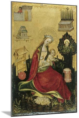 The Virgin and Child in the Hortus Conclusus--Mounted Giclee Print