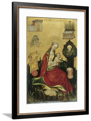 The Virgin and Child in the Hortus Conclusus--Framed Art Print