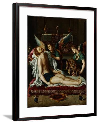 The Body of Christ Anointed by Two Angels-Alessandro Allori-Framed Art Print