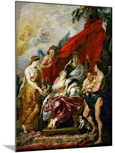 The Birth of the Dauphin at Fontainebleau (The Marie De' Medici Cycl)-Peter Paul Rubens-Mounted Giclee Print