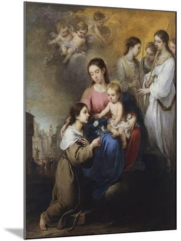 The Virgin and Child with Saint Rose of Viterbo-Bartolom? Esteb?n Murillo-Mounted Giclee Print