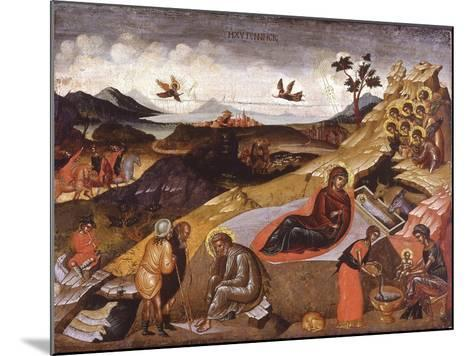 The Nativity of Christ--Mounted Giclee Print