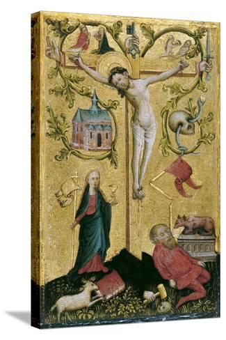 Christ on the Cross as Redemptor Mundi--Stretched Canvas Print