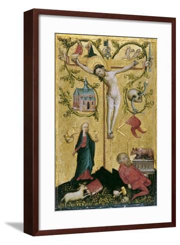 Christ on the Cross as Redemptor Mundi--Framed Art Print