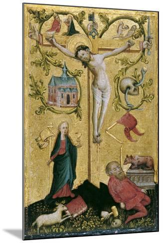 Christ on the Cross as Redemptor Mundi--Mounted Giclee Print