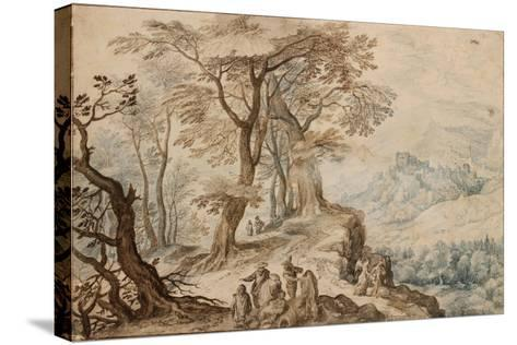 Landscape with Tobias and the Angel-Jan Brueghel the Younger-Stretched Canvas Print