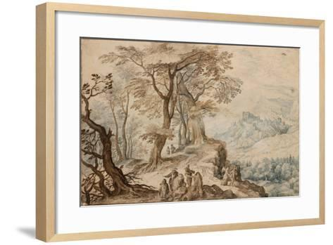 Landscape with Tobias and the Angel-Jan Brueghel the Younger-Framed Art Print