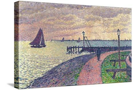Entrance to the Port of Volendam-Th?o van Rysselberghe-Stretched Canvas Print