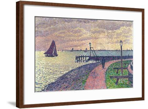 Entrance to the Port of Volendam-Th?o van Rysselberghe-Framed Art Print