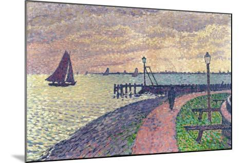 Entrance to the Port of Volendam-Th?o van Rysselberghe-Mounted Giclee Print
