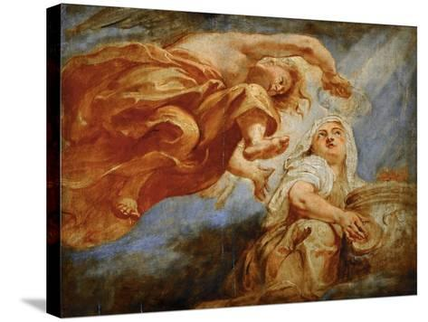 Genius Crowning Religion. Sketch for the Apotheosis of King James I-Peter Paul Rubens-Stretched Canvas Print