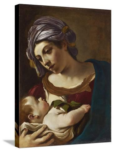 Madonna and Child-Guercino-Stretched Canvas Print