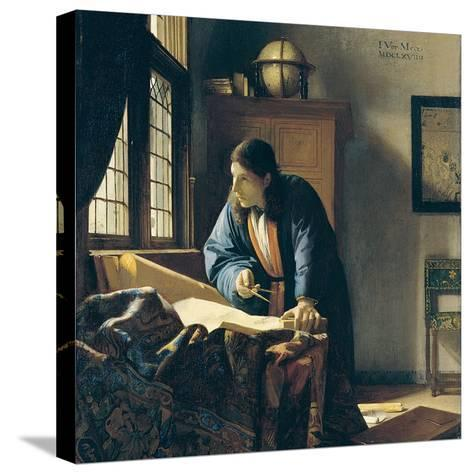The Geographer-Johannes Vermeer-Stretched Canvas Print
