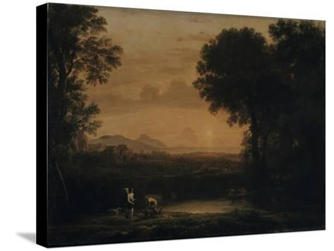Landscape with Tobias and the Angel, 1663-Claude Lorraine-Stretched Canvas Print