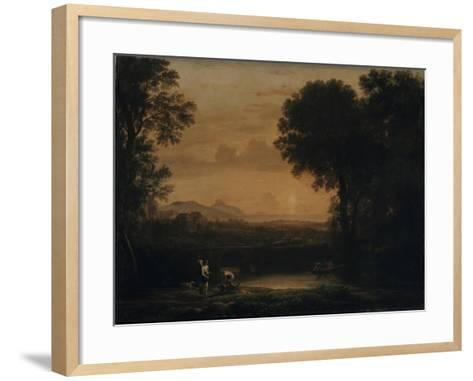 Landscape with Tobias and the Angel, 1663-Claude Lorraine-Framed Art Print