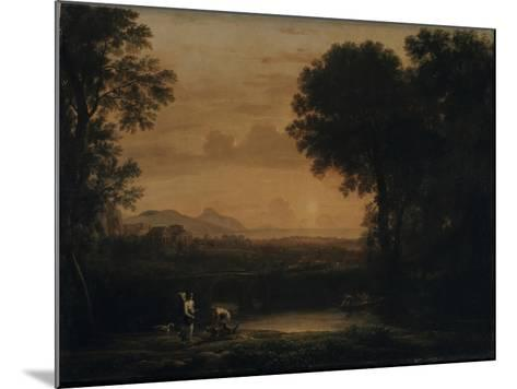 Landscape with Tobias and the Angel, 1663-Claude Lorraine-Mounted Giclee Print