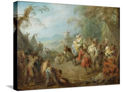 Encampment (Soldiers' Hal)-Jean-Baptiste Pater-Stretched Canvas Print