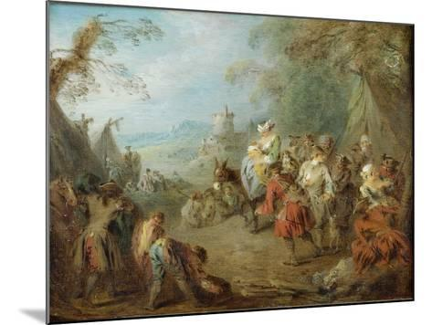 Encampment (Soldiers' Hal)-Jean-Baptiste Pater-Mounted Giclee Print