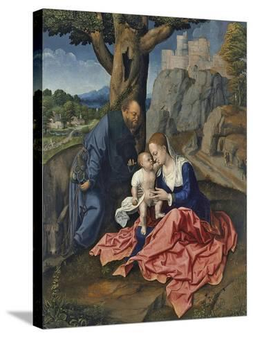 The Rest on the Flight into Egypt-Bernaert Van Orley-Stretched Canvas Print