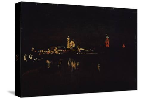 Illumination of the Moscow Kremlin, 1896-Isaak Ilyich Levitan-Stretched Canvas Print