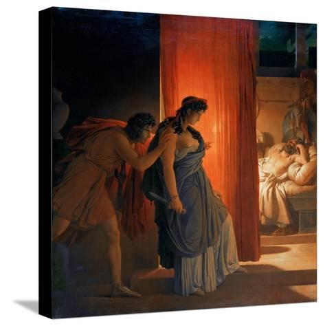 Clytemnestra Hesitates before Killing the Sleeping Agamemnon-Pierre Narcisse Gu?rin-Stretched Canvas Print