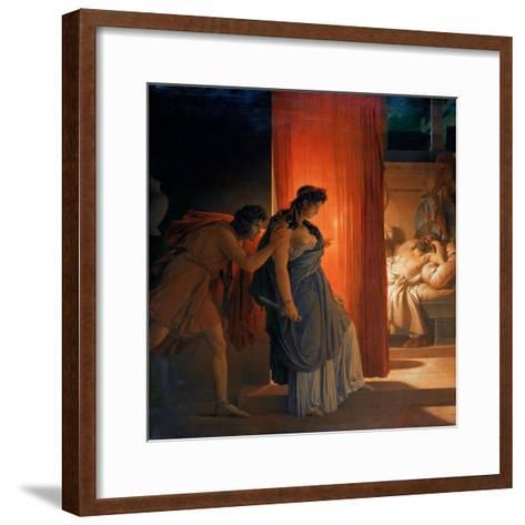 Clytemnestra Hesitates before Killing the Sleeping Agamemnon-Pierre Narcisse Gu?rin-Framed Art Print