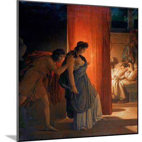 Clytemnestra Hesitates before Killing the Sleeping Agamemnon-Pierre Narcisse Gu?rin-Mounted Giclee Print