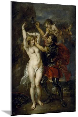 Andromeda Freed by Perseus, 1641-1642-Peter Paul Rubens-Mounted Giclee Print