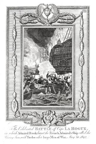 Battle Off Cape Lahogue, 1692--Stretched Canvas Print
