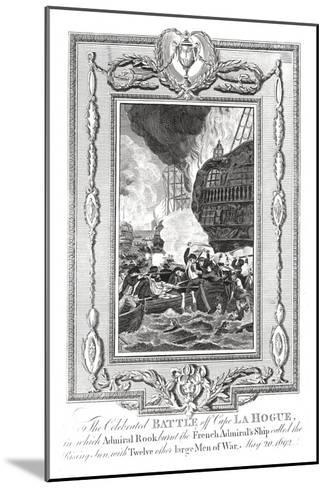 Battle Off Cape Lahogue, 1692--Mounted Giclee Print