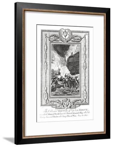 Battle Off Cape Lahogue, 1692--Framed Art Print