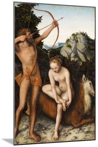 Apollo and Diana, Ca 1530-Lucas Cranach the Elder-Mounted Giclee Print
