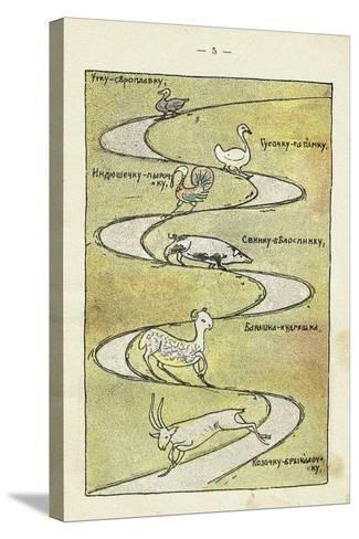 Illustration to the Children's Book Ai Du-Du-Sergei Vasilyevich Malyutin-Stretched Canvas Print