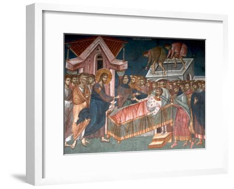 The Healing the Paralytic at Capernaum, Ca 1350--Framed Art Print