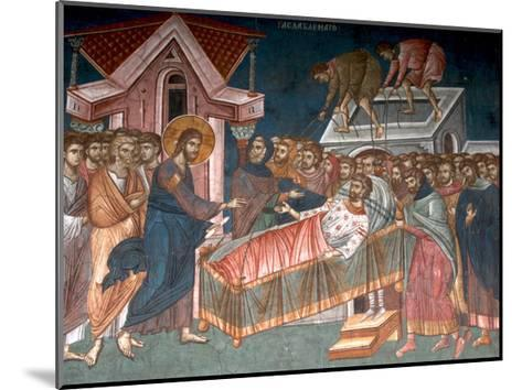 The Healing the Paralytic at Capernaum, Ca 1350--Mounted Giclee Print