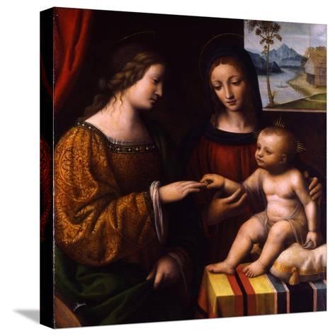 The Mystical Marriage of Saint Catherine, C. 1520-Bernardino Luini-Stretched Canvas Print
