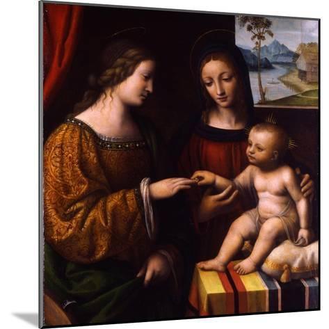 The Mystical Marriage of Saint Catherine, C. 1520-Bernardino Luini-Mounted Giclee Print