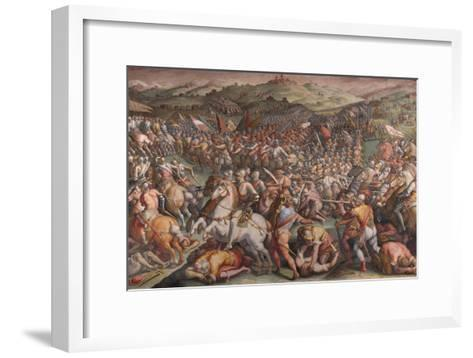 The Battle of Marciano in Val Di Chiana, 1570-1571-Giorgio Vasari-Framed Art Print