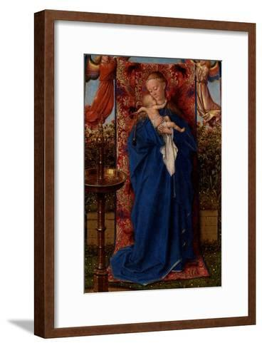 Madonna and Child at the Fountain-Jan van Eyck-Framed Art Print
