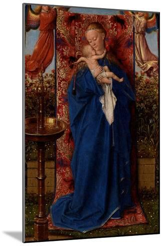 Madonna and Child at the Fountain-Jan van Eyck-Mounted Giclee Print