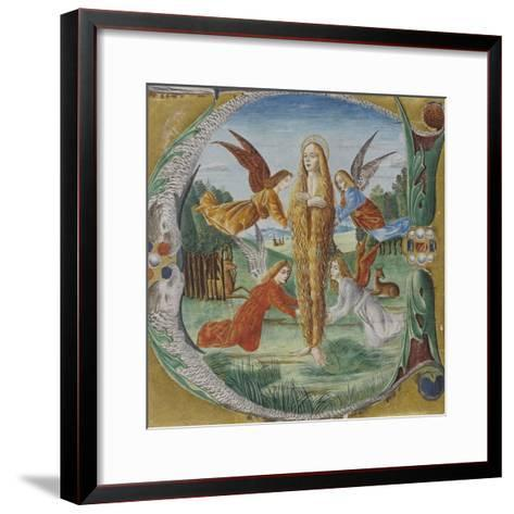 Saint Mary Magdalen Surrounded by Angels- Maestro del Salomone Wildenstein-Framed Art Print