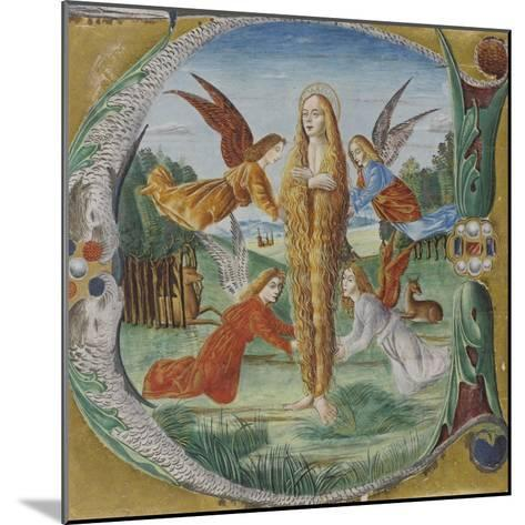 Saint Mary Magdalen Surrounded by Angels- Maestro del Salomone Wildenstein-Mounted Giclee Print